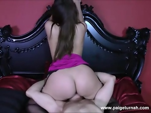 Sexy call girl Paige Turnah fucks and sucks in hotel