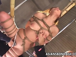 Delicious Asian gal has her pussy stimulated during