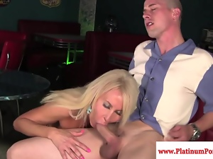 Mature Erica Lauren devours hard cock