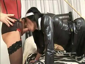 Lusty TGirl takes a load of punishment in mouth