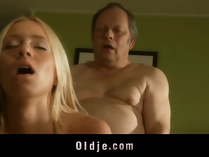 Lucky man fucks hot and sexy blonde