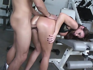 Sky Taylor takes this hard dick deep in her moist slot