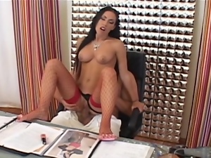 Anal fucking on the desk