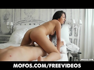 Sexy little Latina is picked up & fucked
