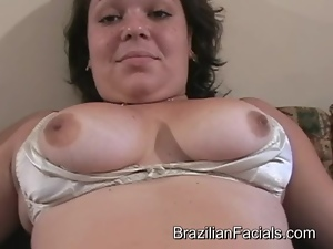 Chunky Brazilian gets facialled