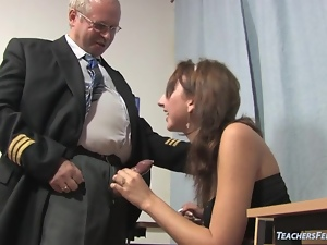 Failing student fucks her tutor
