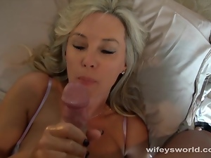 Wifey Toys Pussy And Gets Fucked
