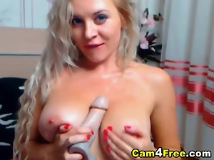 Beautiful Blonde Girl Masturbating to Orgasm
