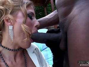 Two Cocks on Italian Star Nadia Macri