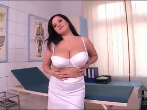 Sexy nurse has incredible big tits