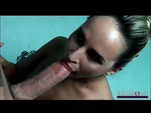 Aleska Diamond sucks cock as a ballerina