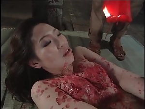 Japanese girl craves hot wax on her body