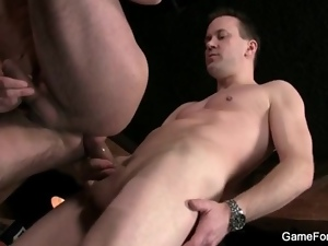 Hairy ass guy fucked hard in the bar