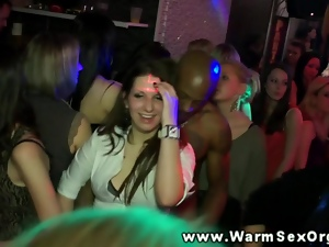 Hot real babes at party riding