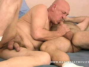 Fat Hairy Daddy Fucks Mature Friend