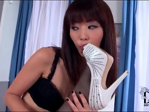 Lingerie sets on two sexy girls that lick feet