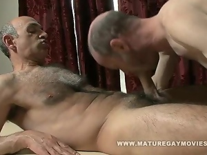 Hairy Daddy Fucks His Masseur