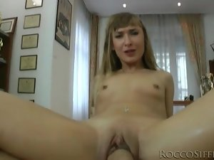 Skinny girl rides his boner both ways in POV