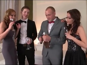 Party girl sucks dick on New Years Eve