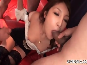 Facial cumshots for Japanese beauty