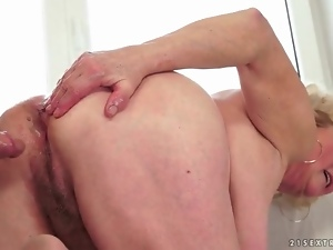 Mature fuck with a sticky facial cumshot