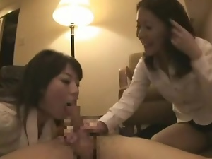 Secretary sluts in skirts in foreplay foursome