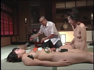 Kinky food play in his Japanese fantasy video