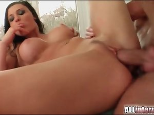 Aletta Ocean hardcore threesome with creampie