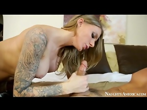 Slut Juelz Ventura in naughty oral sex video