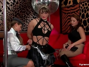 Bondage and pain for sexy sissy guy