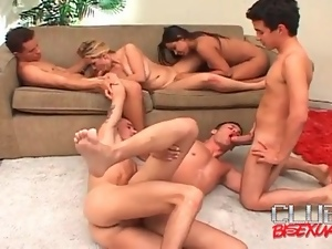 Bisexual orgy video with all holes open for fucking