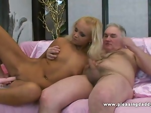 Blond Slut Pleases Her Mature Lover