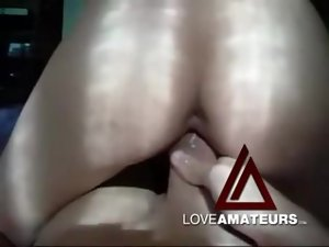 Cocksucker in a tank top fucked in her tight vagina