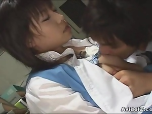 Hot Japanese secretary pounded by her boss Uncensored