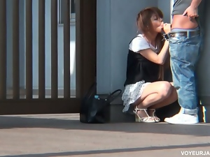 Japanese cutie fucked in the park