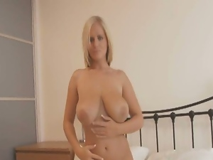 Besautiful busty blonde voctoria loves teassing us