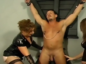 Twisted females torture their slaves men.
