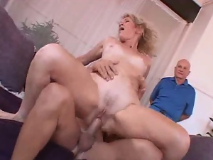 Granny fucked by another man