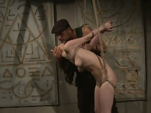 Aleksandra ass fucked in a dungeon
