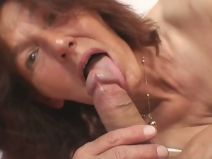 Whore mom rides her son in law