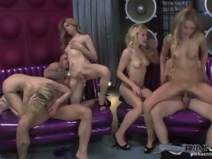 Nasty twinks group fuck