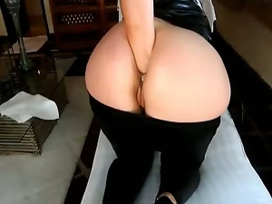 German fatty fists her own ass hole