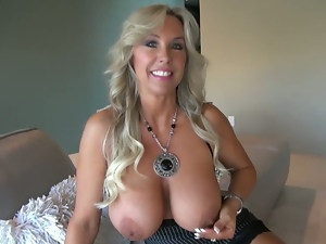 Big titted blonde milf wifey fucks for facial