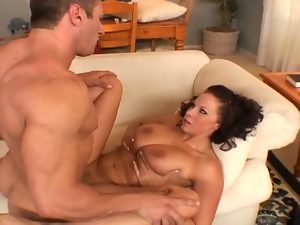 Drilling massive tits brunette hard