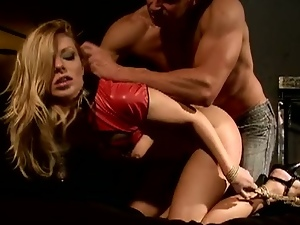 Hot blonde babe debbie white enjoyed bdsm sex