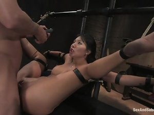 Asa Akira gets her Asian pussy drilled hard by Mr. Pete