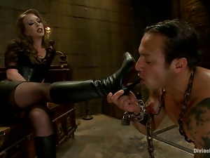 Dutch Bardoux gets his ass beaten and fisted by Mistress T