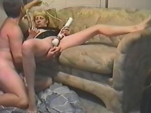 Mature woman gets fucked and toyed in retro video