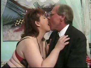 Mature brunette Jenny Joyce gets her cunt licked and fucked hard
