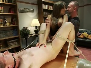 Josh West gets whipped and humiliated by Nika Noire in the study